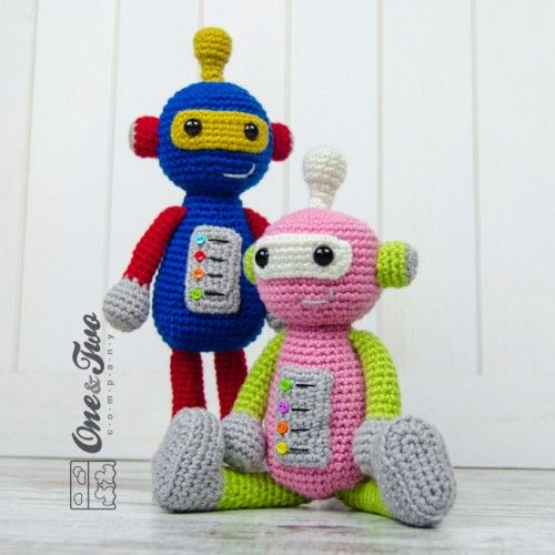 Robby the Robot Amigurumi Crochet Pattern by One and Two Company