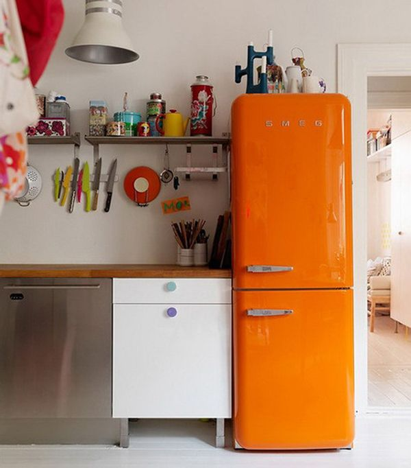 Retro Small Kitchen Appliances 20 retro smeg fridges for small kitchens | home design and