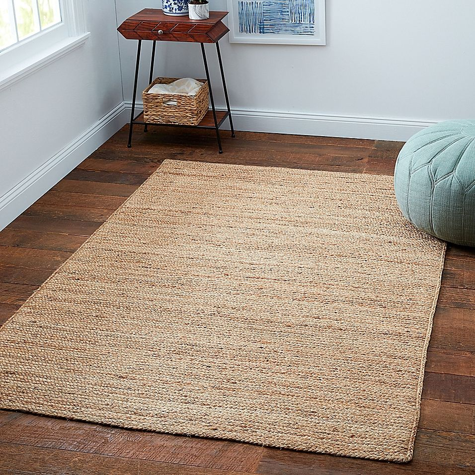 Bee Willow Home Fireside Jute Braided 6 X 9 Area Rug In