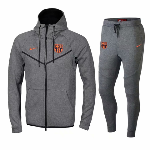 offer discounts pretty cool best Barcelona 18/19 Gray Hoodie Men Jacket Tracksuit Slim Fit ...