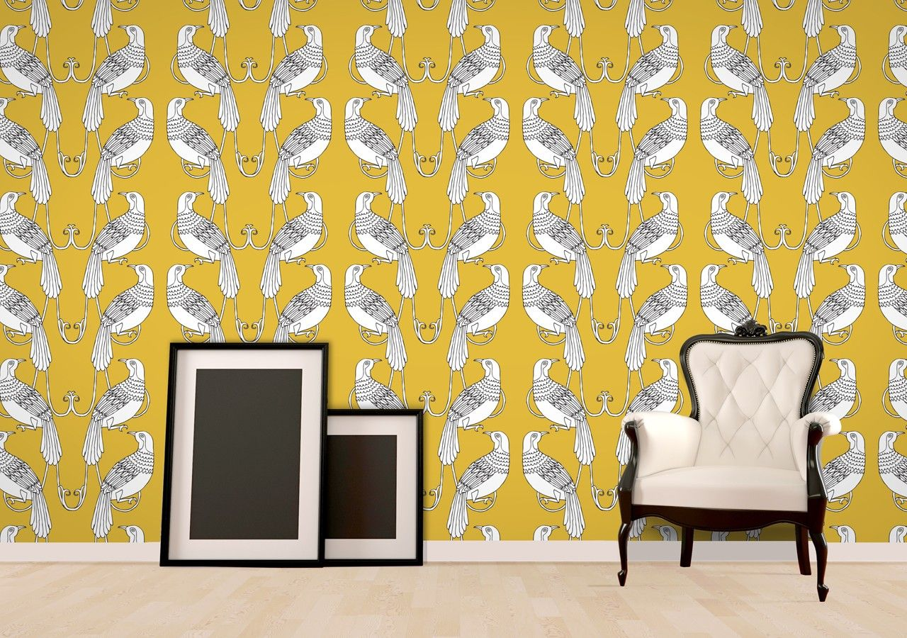 Yellow Bird Wallpaper\' by Jessica Townsend available at wallpapered ...