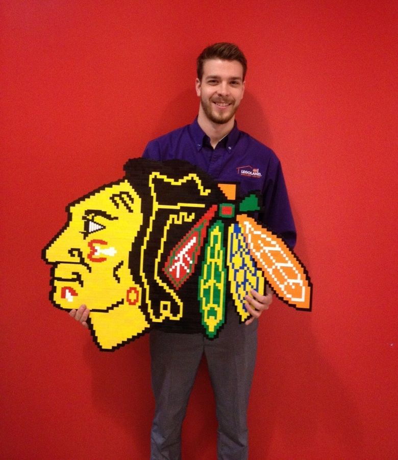 Lego Blackhawks logo built by this Lego Master Builder from Chicago ...