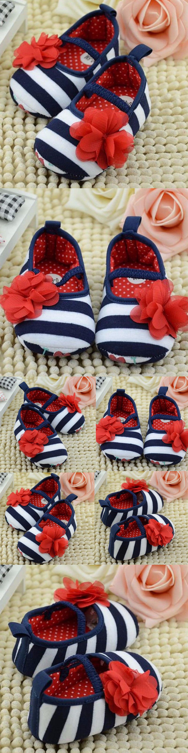 Baby Girls Shoes: Toddler Infant Newborn Baby Girls Kid Soft Sole Flower Prewalker Crib Shoes Bao BUY IT NOW ONLY: $4.99