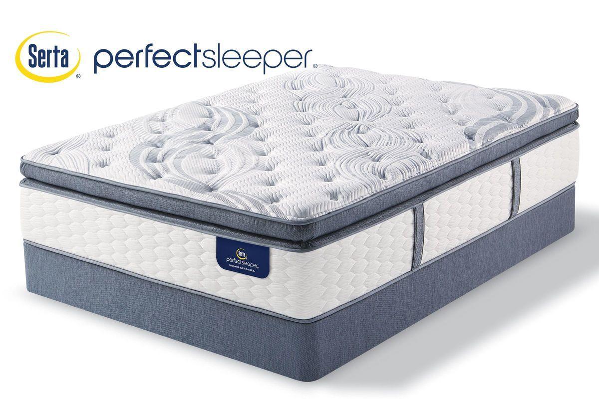Serta Perfect Sleeper Leary Plush Queen Mattress With 2 Split