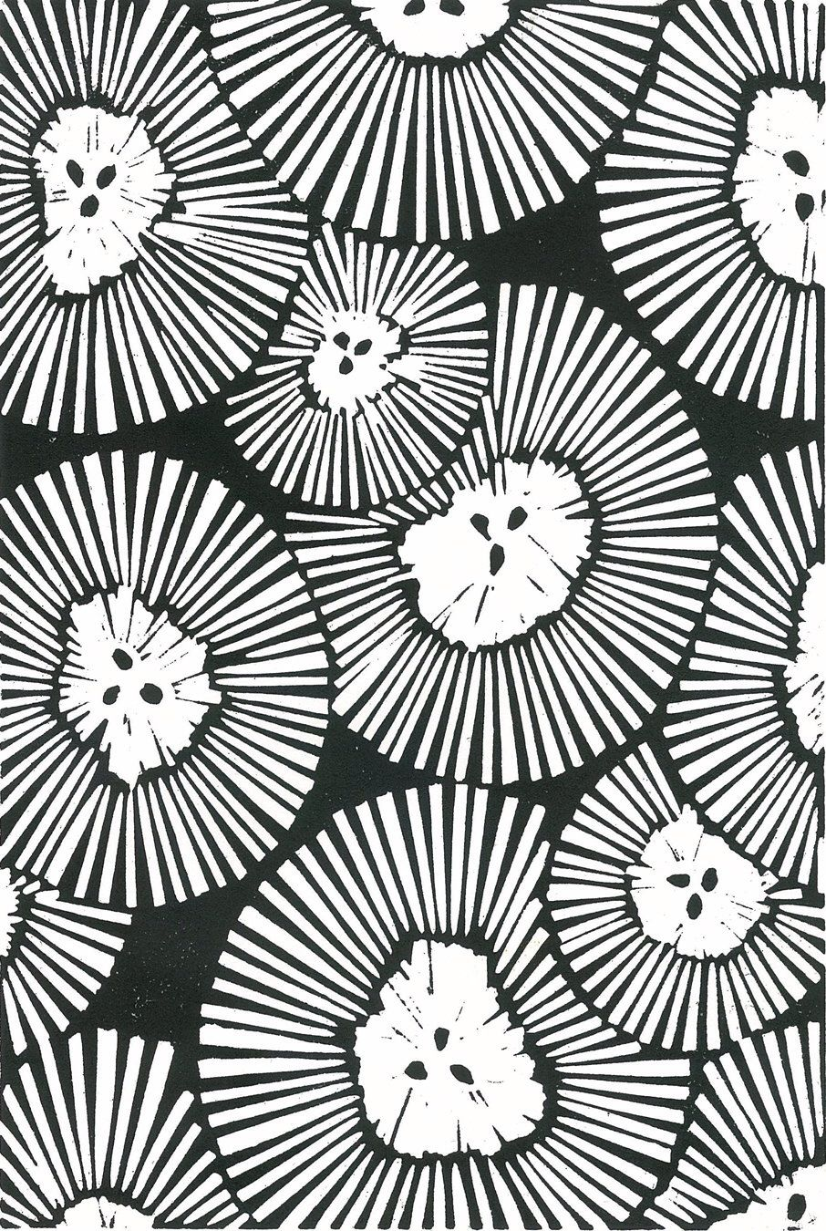 Chrysanthemums lino print black white abstract flower print chrysanthemums lino print black white abstract flower print 8x10 block print ready to ship mightylinksfo Image collections