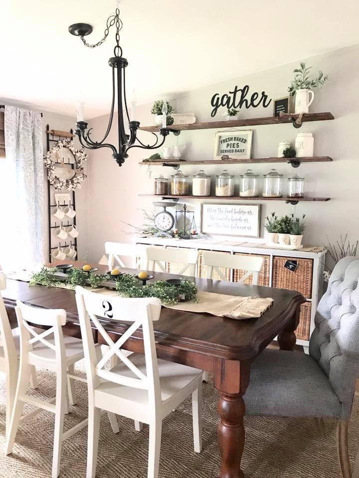 dining room wall. #farmhousediningroom