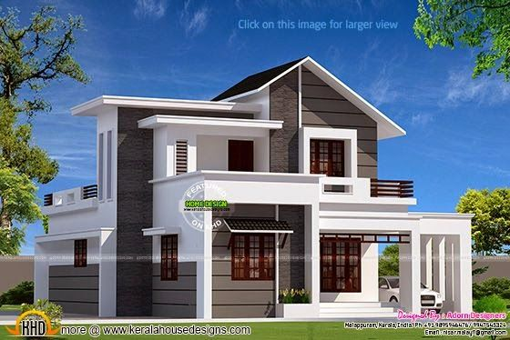 Kerala home design and floor plans small double storied house also hind in designs exterior pinterest rh