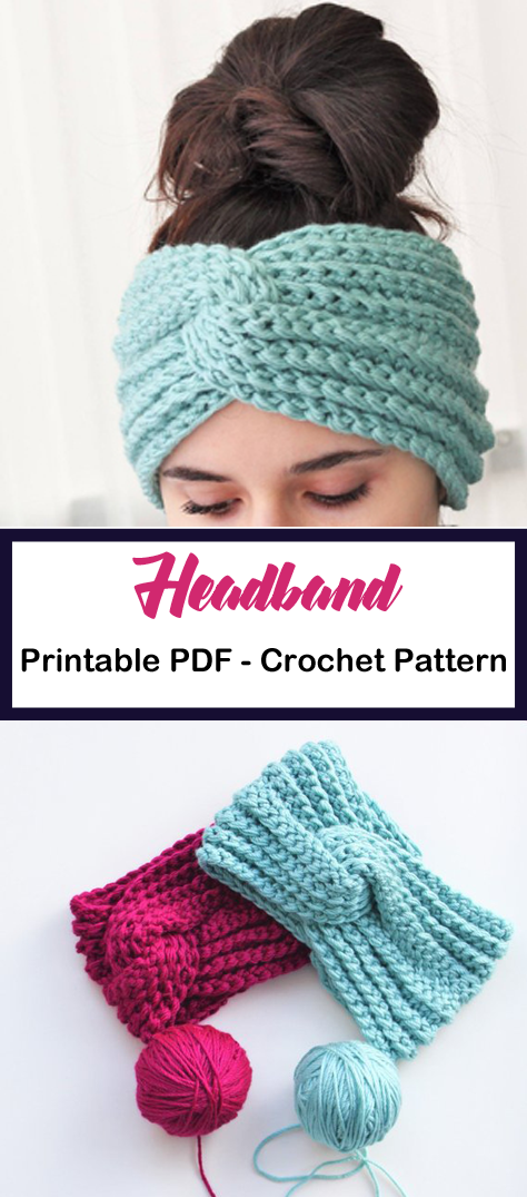Make a Turban Headband #crochetheadbandpattern