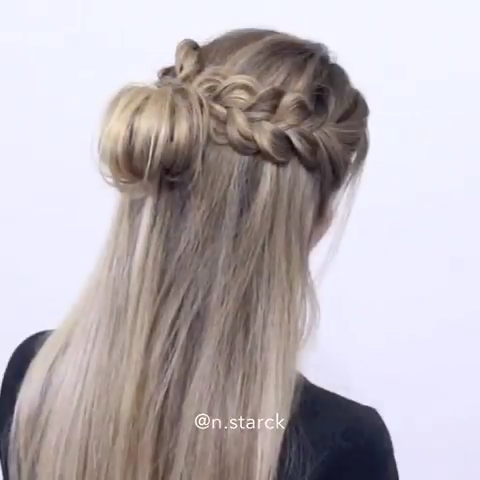 Easy Messy Bun Hairhack@n.starck über Instagram