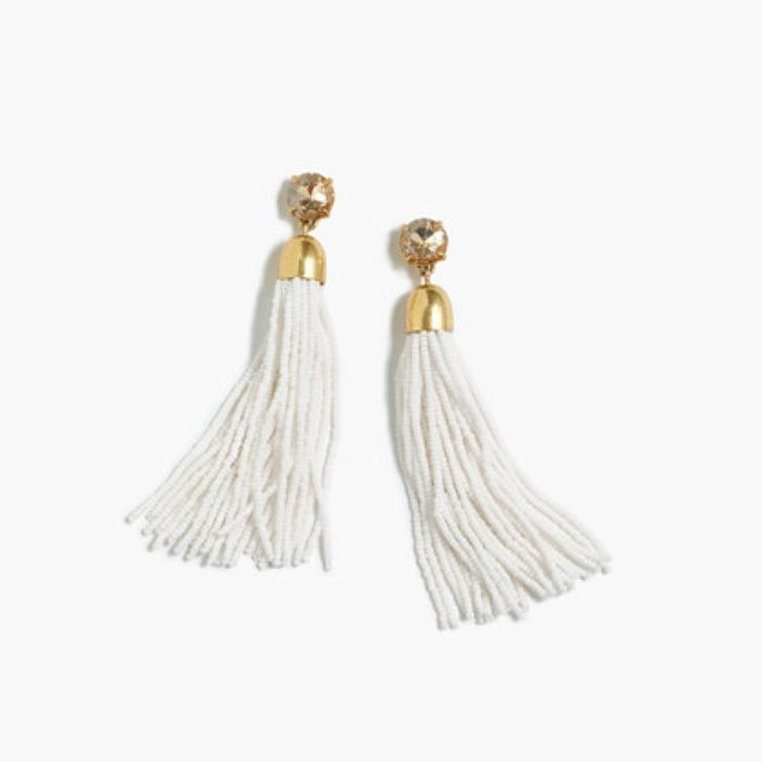Rank Style JCrew Beaded Tassel Earrings rankandstyle Wants