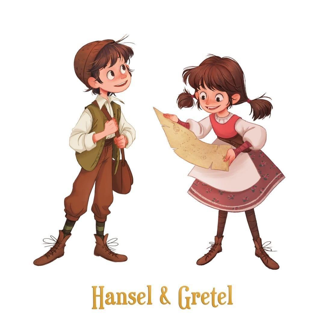 Hansel And Gretel For Hanselstorybook Horrible Font Used Btw I Ll Have To Find A More Decent Fon Diseno De Personajes Ilustraciones Ilustraciones De Cuentos