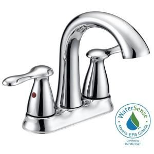 Glacier Bay Asher 2 Handle 4 In Lavatory Faucet With Pop Up Assembly And Deck Plate In Chrome Finish F51a1071cp At The Ho Sink Faucets Bathroom Faucets Faucet