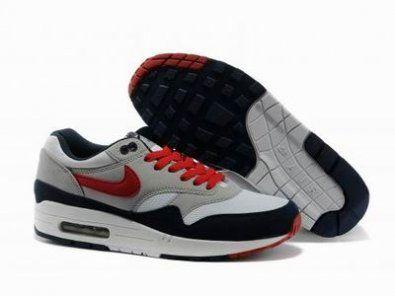 Nike Air Max 87 negro / gris / rojo http://www.esnikerun