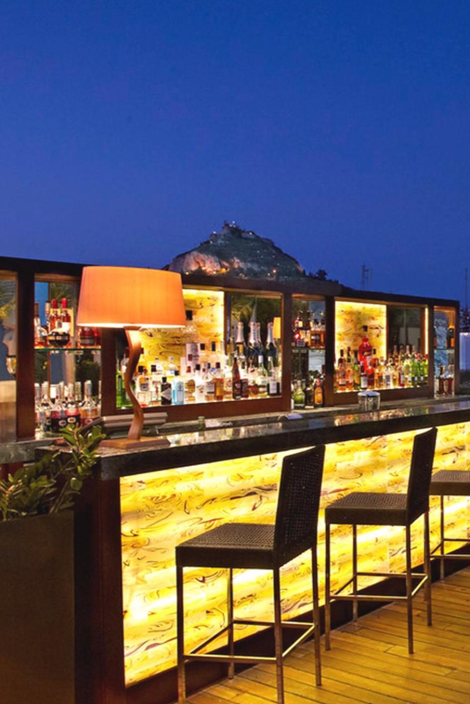 Enjoy A Cocktail Alfresco At The Hotel S GB Roof Garden Bar Hotel Grande Bretagne A Luxury Collection Hotel …   Rooftop Terrace Design, Garden Bar, Terrace Design