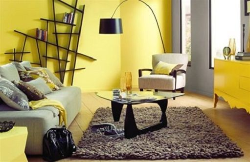 Small yellow living room | apt 6 | Pinterest | Living rooms, Room ...