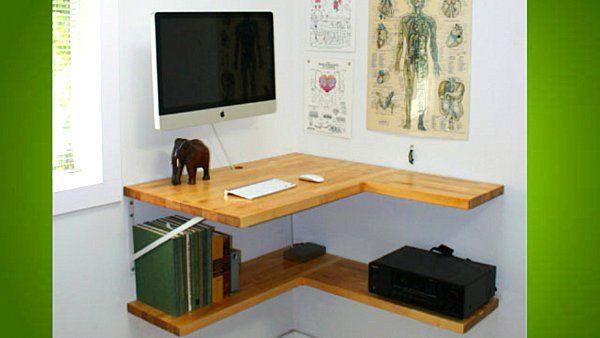 Arbeitsplatz zu Hause DIY Schreibtisch weiß Wand grün Regale - der arbeitsplatz zu hause