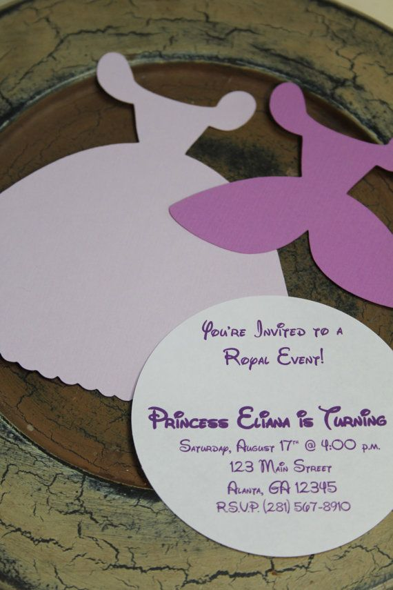 Princess Dress DIY Invitation 10