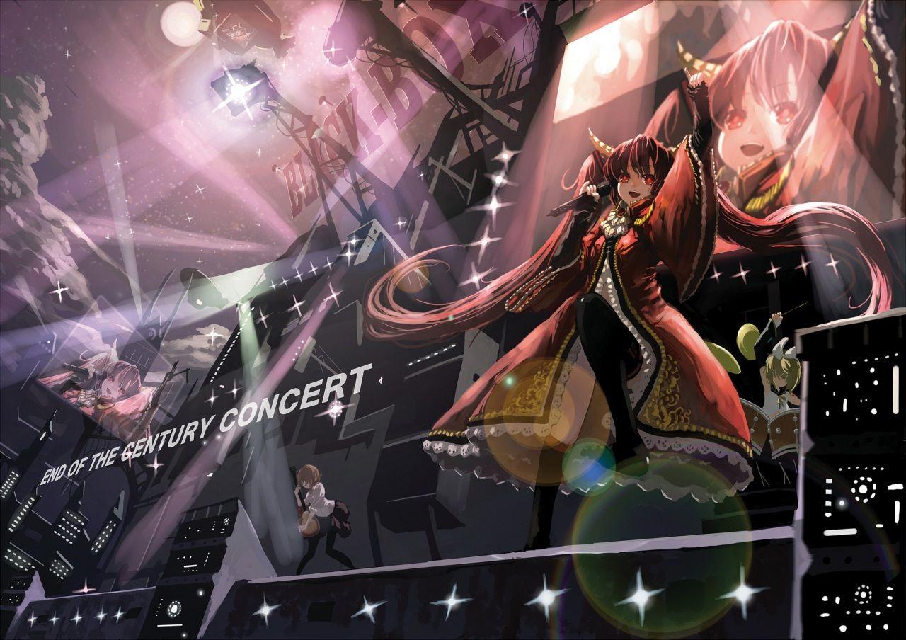 Vocaloid Vestido Concierto Anime Chicas (con imágenes