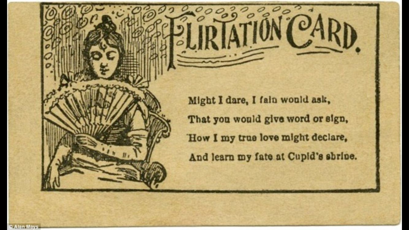 Flirtation Card\' Victorian dating cards! These were handed out to ...