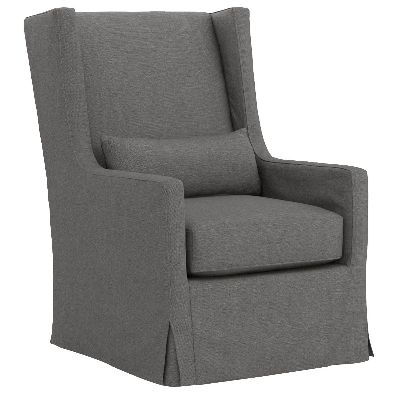 Four Hands Alistair Strasbourg Finn Charcoal Swivel Wing Chair