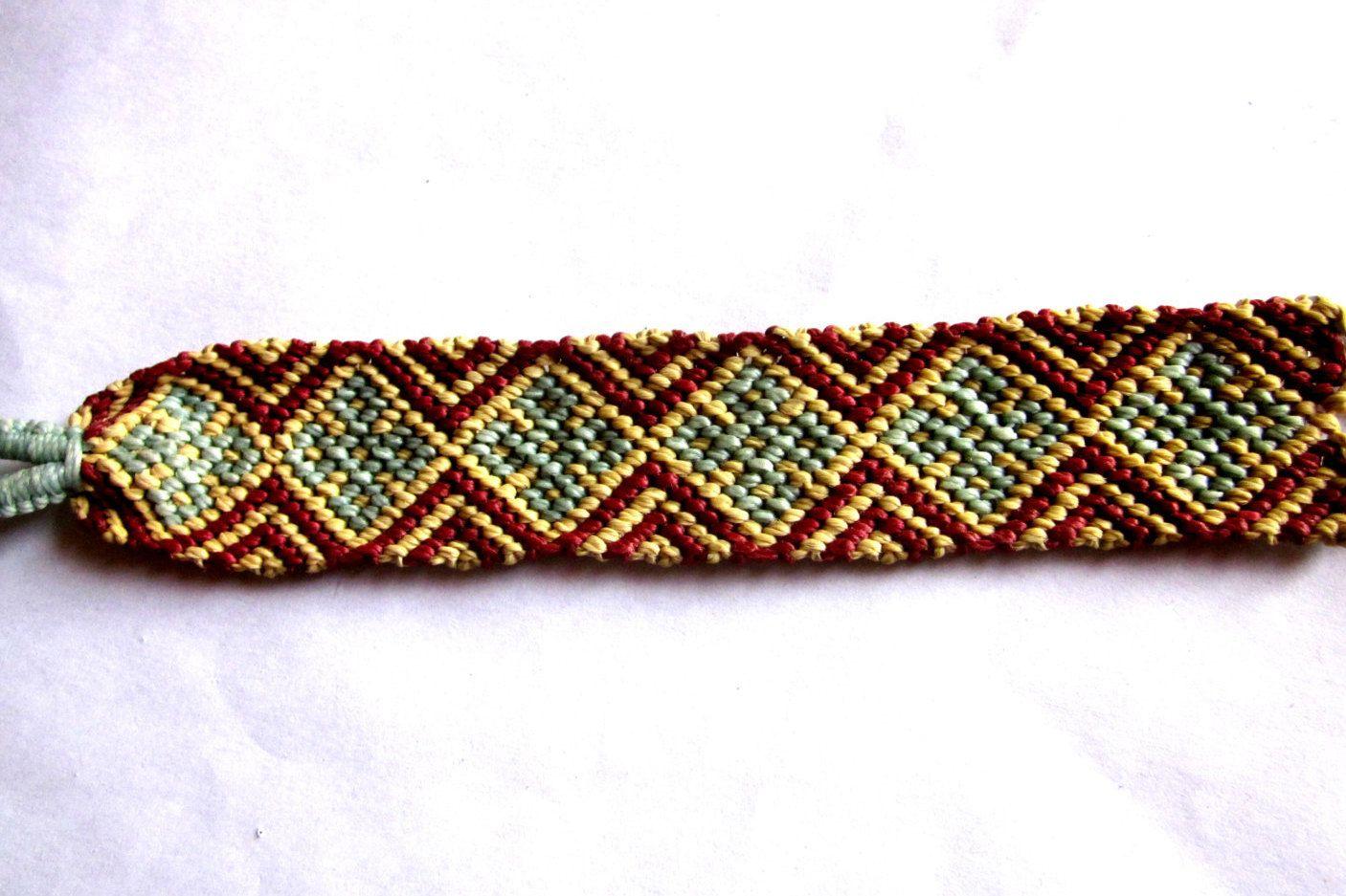 Stars and Diamonds Woven Friendship Bracelet by TheGringaHippie on Etsy