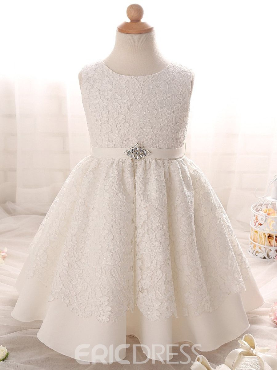 ffea8852f Ericdress Jewel Ball Gown Lace Christening Gown|Embellishments:Beading