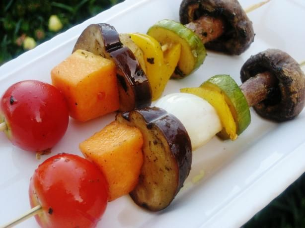 Grilled Veggie Shish Kabobs Receta Portobello Sin Gluten Cocinas