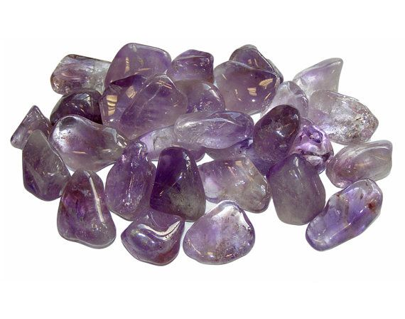 Five Amethyst Tumbled Stones  2-3 cm by SevernBlackFeathers