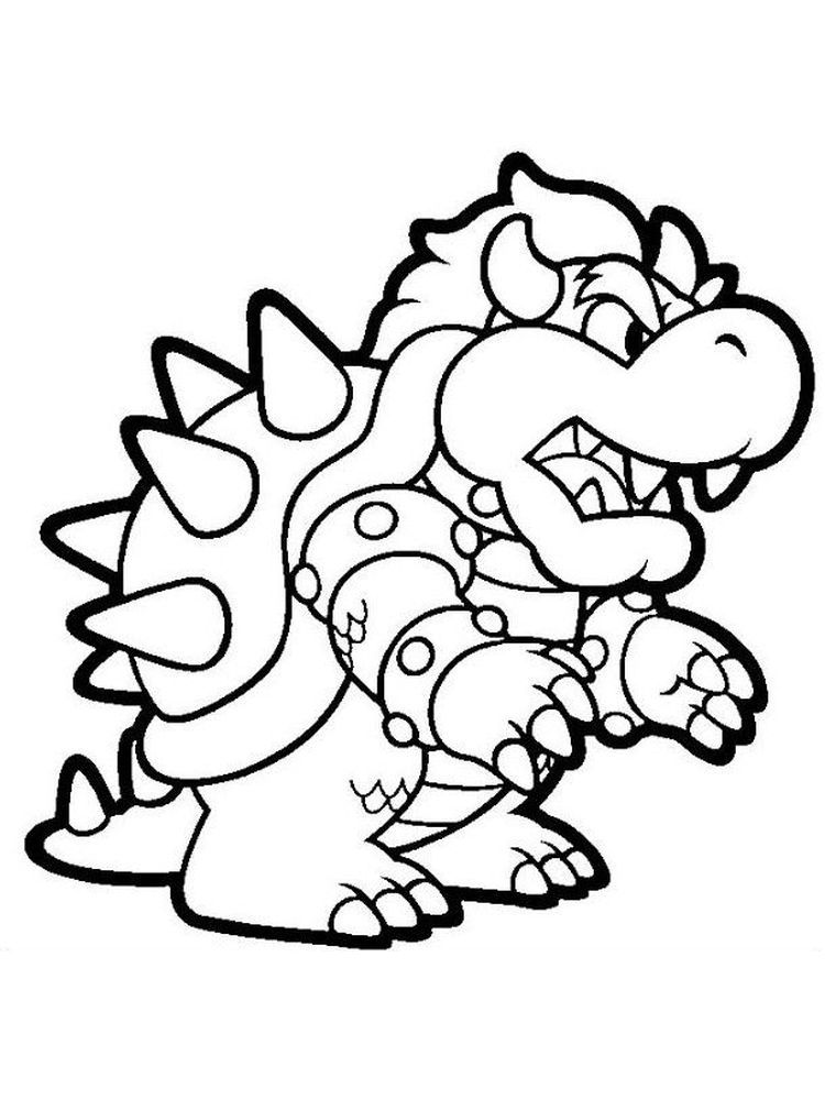 Mario Bros Bowser Coloring Pages Mario Coloring Pages Super Mario Coloring Pages Coloring Pages