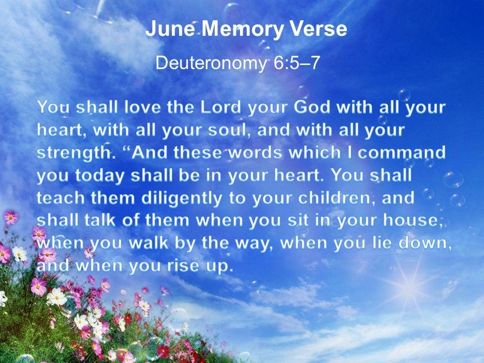 EBC's June Memory Verse