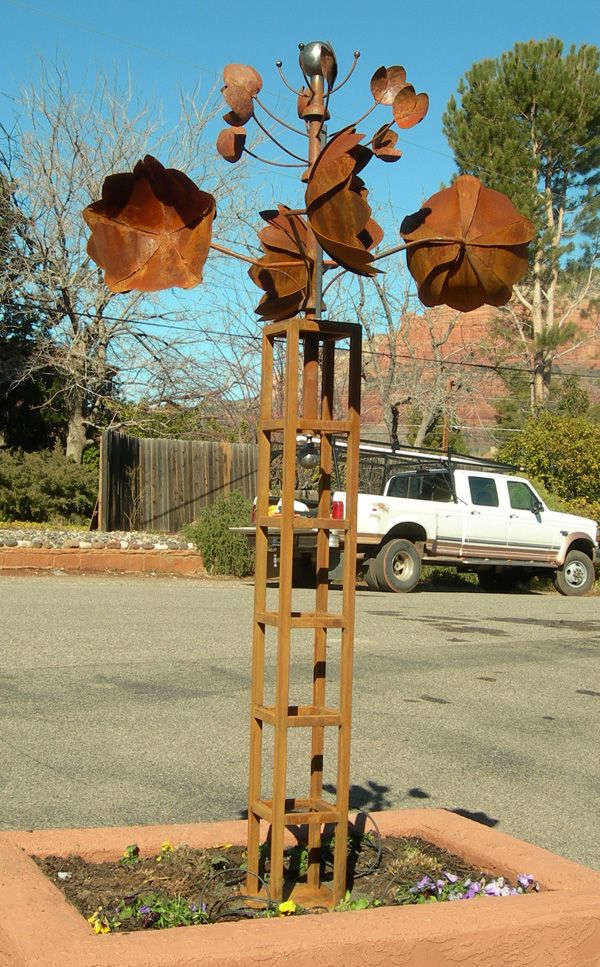 Http://www.zenzibar.com/CosmicSteel/photos/floralia | METAL ART  SCULPTURE INSPIRATION | Pinterest | Metals, Yard Art And Yards