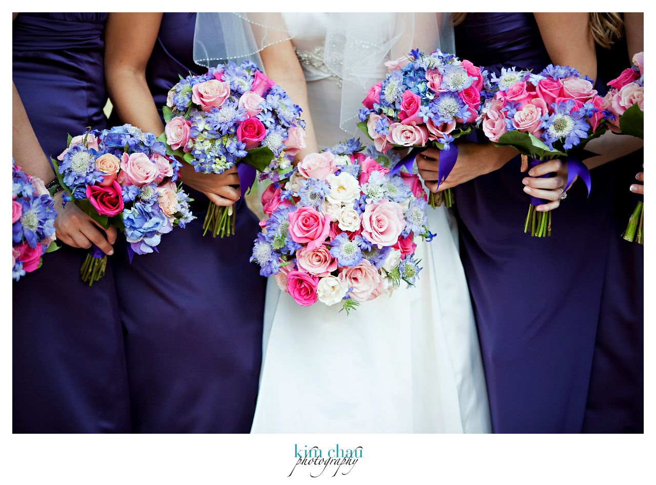 Pink and blue wedding flower bouquets for Wedding pink and blue