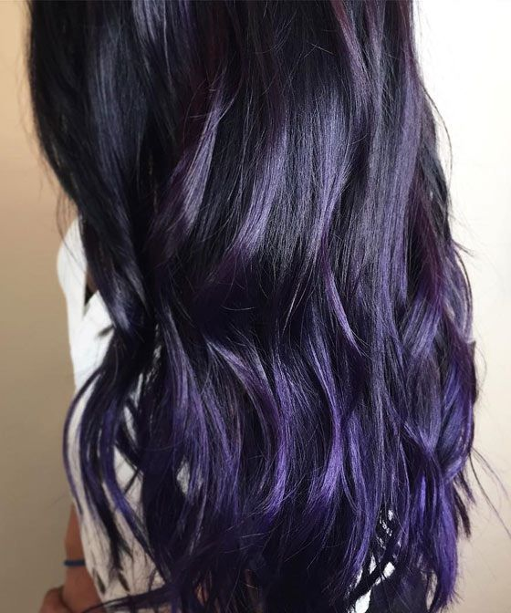 сливовый цвет волос фото