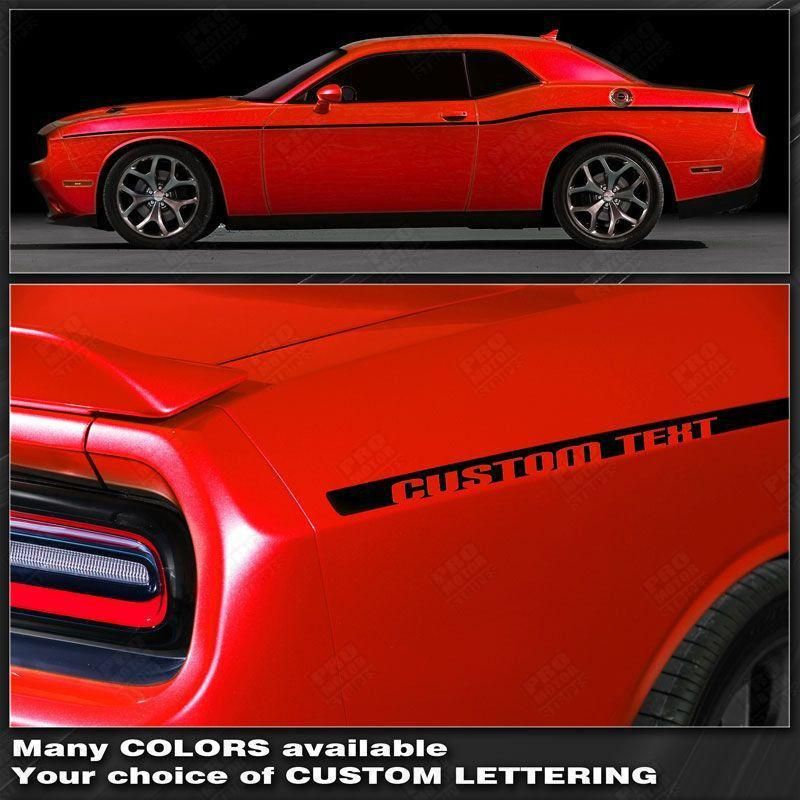 Dodge Challenger Scat Pack Style Rear Stripes Decals 2008 2009 2010 Pro Motor