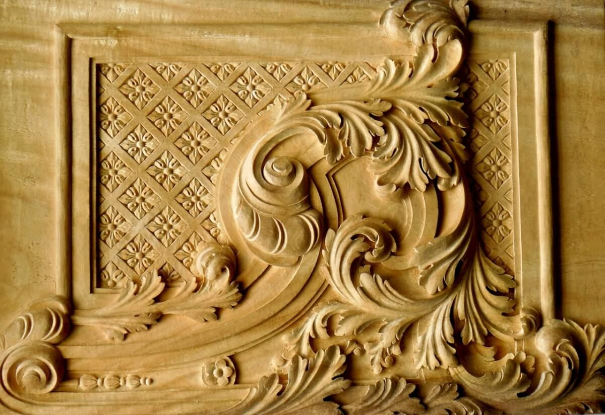 Baroque-style panel woodcarving, hand-carved by Agrell Architectural ...