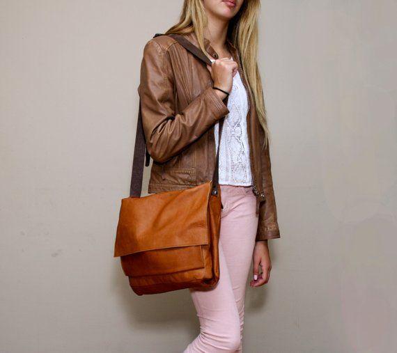 Women S Brown Leather Messenger Bag Soft