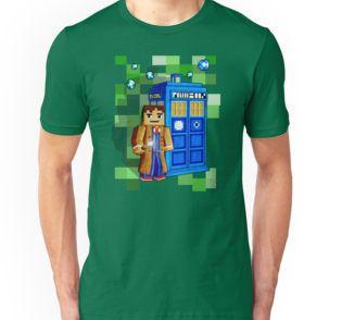Cute 8bit time traveller with the phone box Tri-blend T-Shirts #tee #tshirt #clothing #tardis #policepubliccallbox #doctorwho #phonebooth #phonebox #timemachine #timetraveller #cubic #games #sandbox #creeper #mojang #8bit