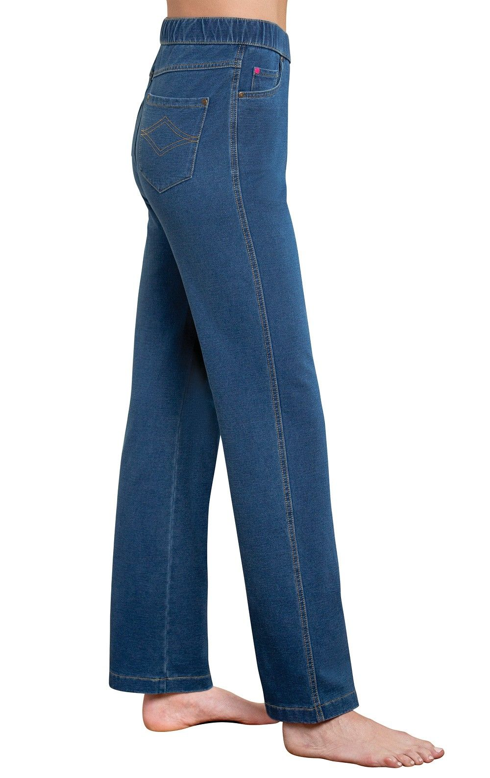 58536b9d1f862 PajamaJeans® - High-Waist Pacific - $49.99 A truly ageless style that  highlights women's natural waistline, our high-waist PajamaJeans rank high  on two ...