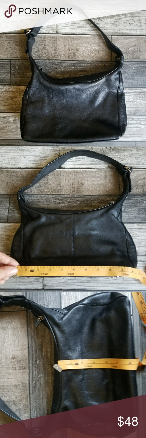 PELLE STUDIO (WILSON'S) black leather bag Black leather