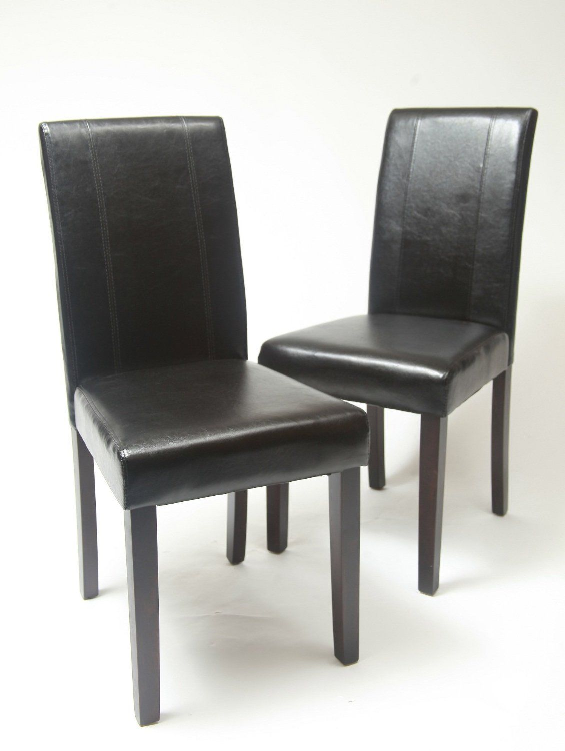 10 Big Kitchen Chairs For Heavy People  Black leather dining