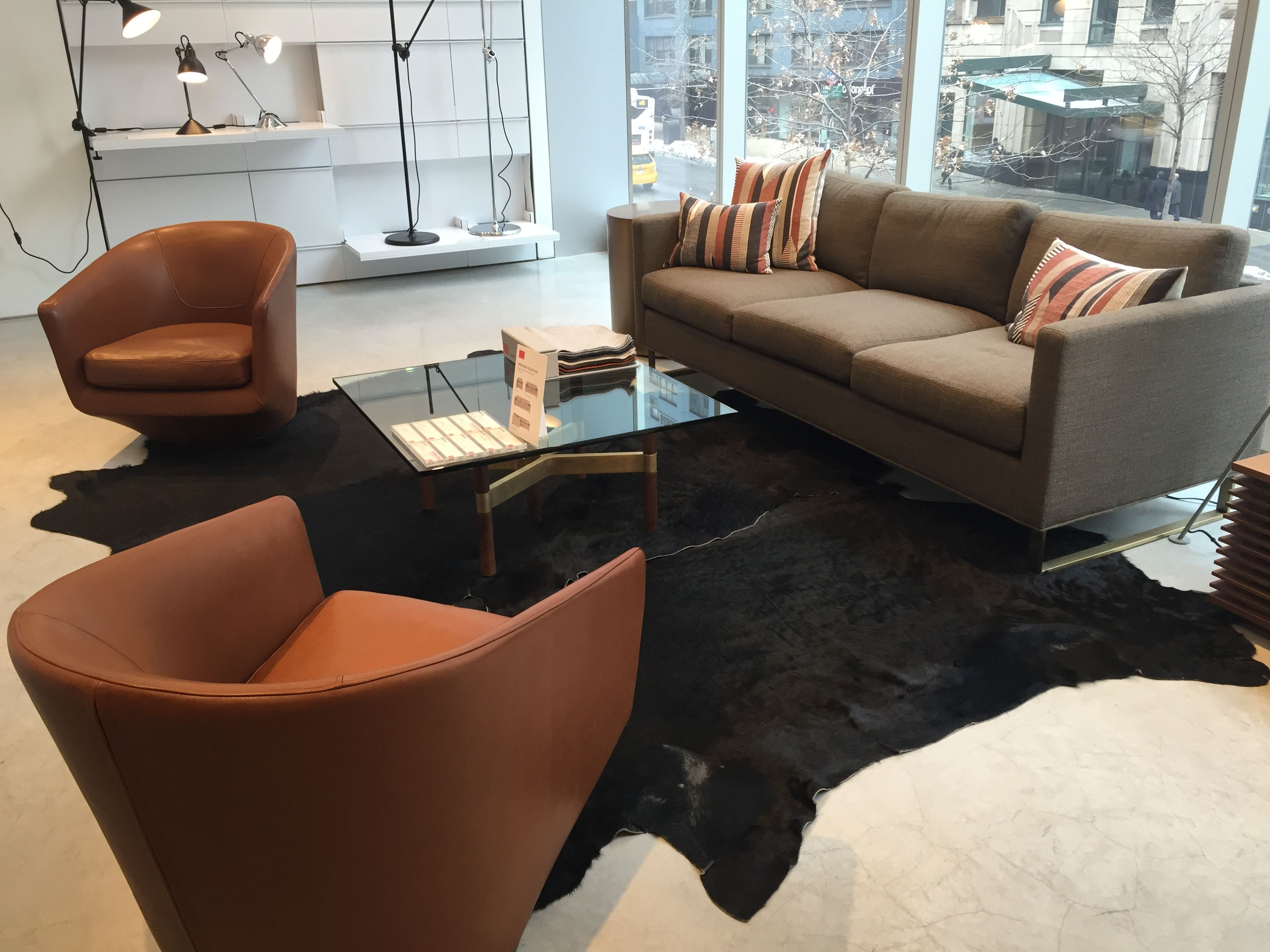 Design Within Reach Seating And Cowhide Area Rugs Office Space Design Space Design Design Within Reach
