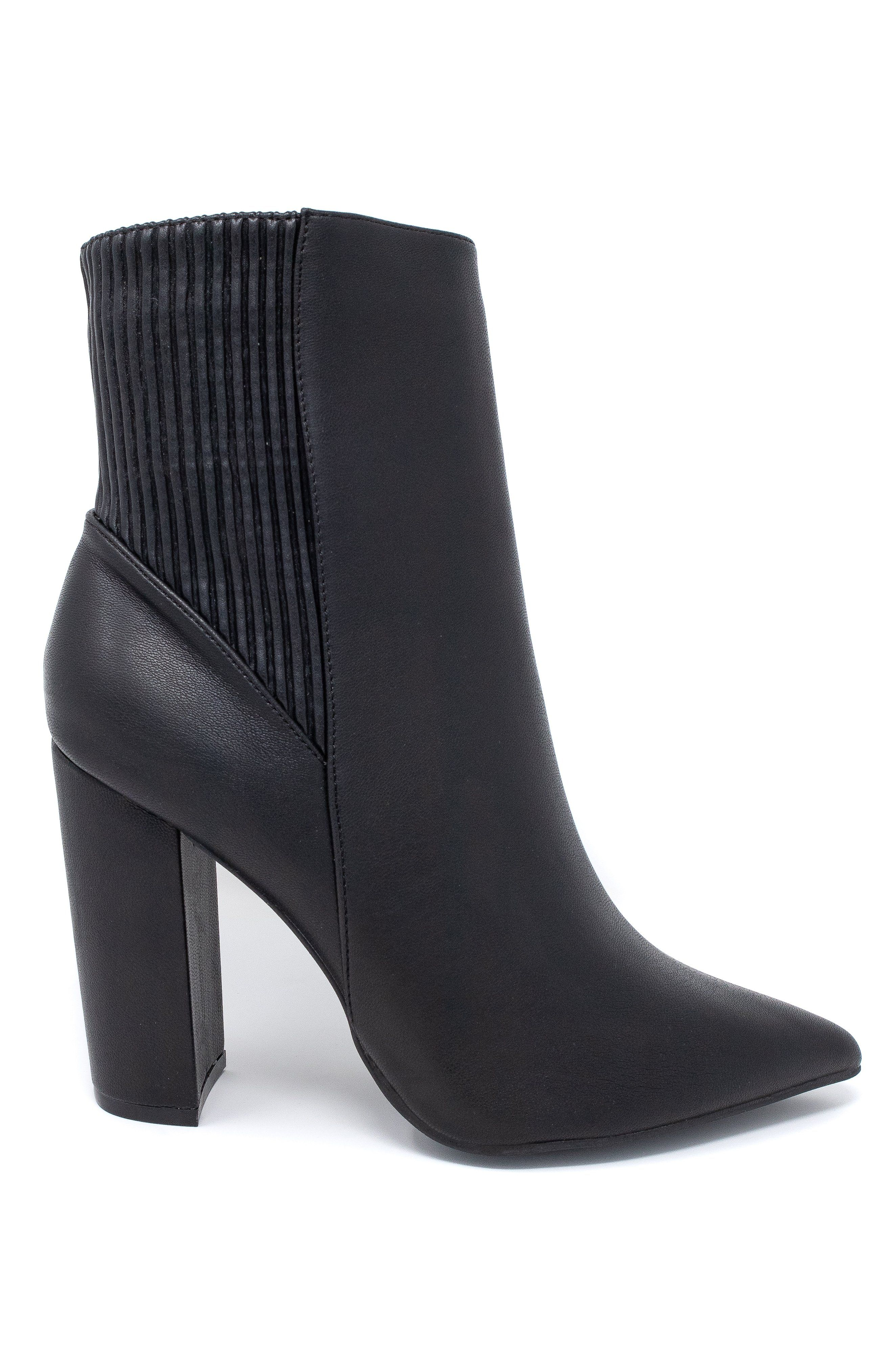 Premium vegan leather Side zipper closure 4 inch heel height (approx) Pointed toe Fits most true to size
