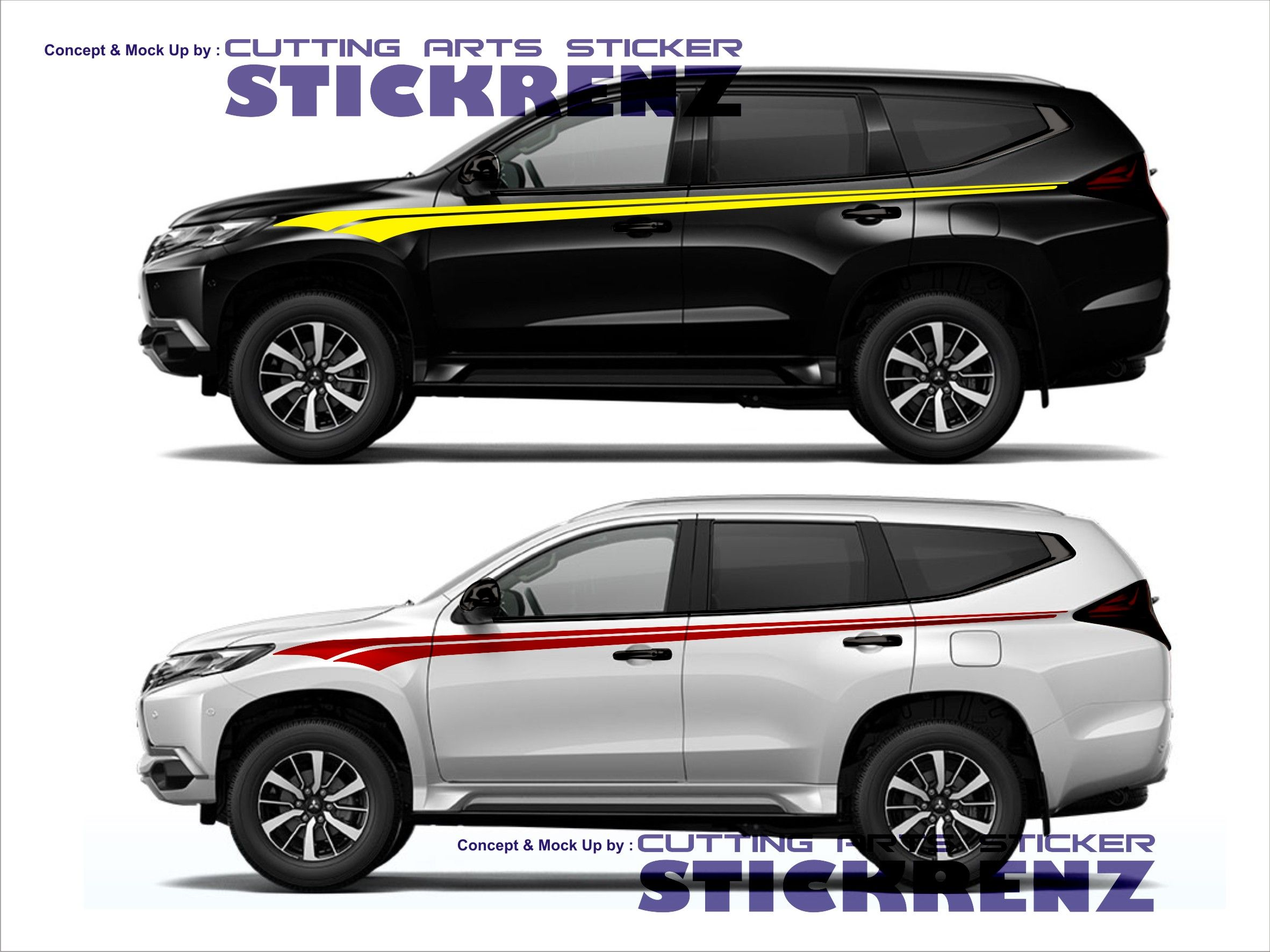 Car custom side cutting sticker concept pajero 006 sticker stickers decal
