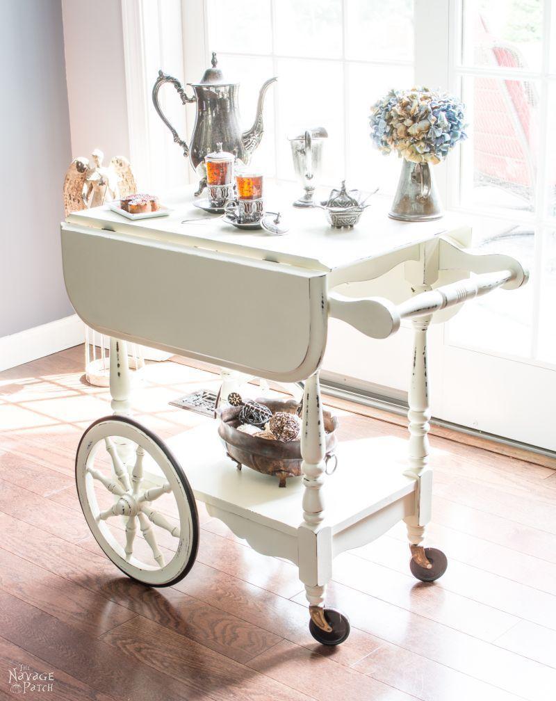 30 Chalk Paint DIY\'s to Freshen Up Old Furniture   Tea cart, Chalk ...
