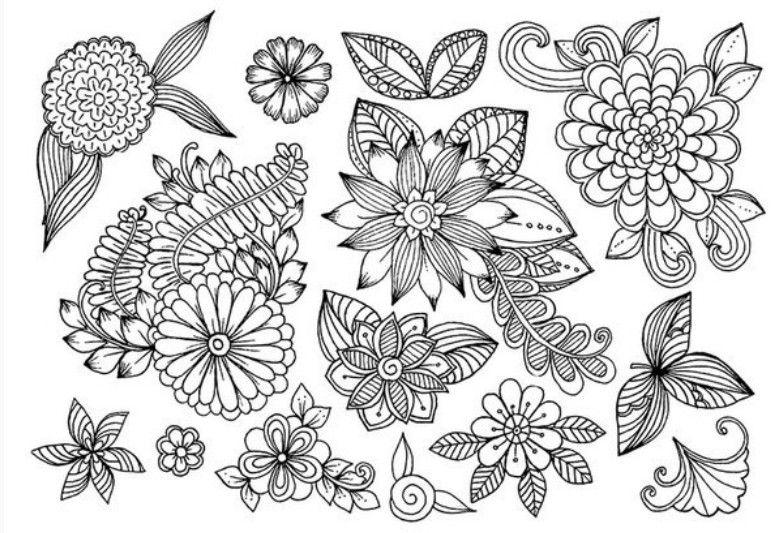 Раскраски антистресс | Рисунки цветов, Элементы дизайна