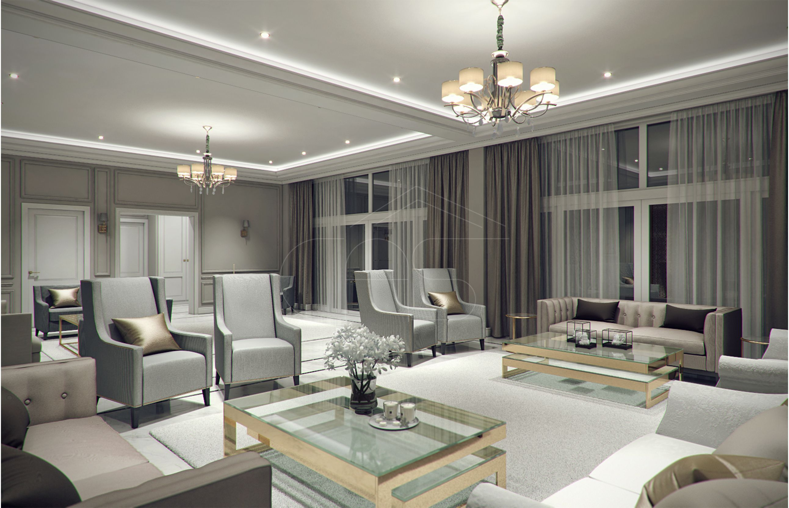 Modern Classic Villa Interior Design Riyadh Saudi Arabia With