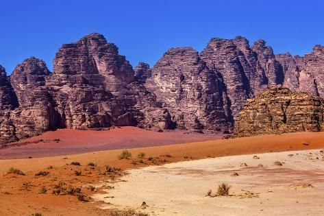Sand Rock Formation, Wadi Rum, Valley of the Moon, Jordan. Premium Photographic Print by William Perry | Art.com