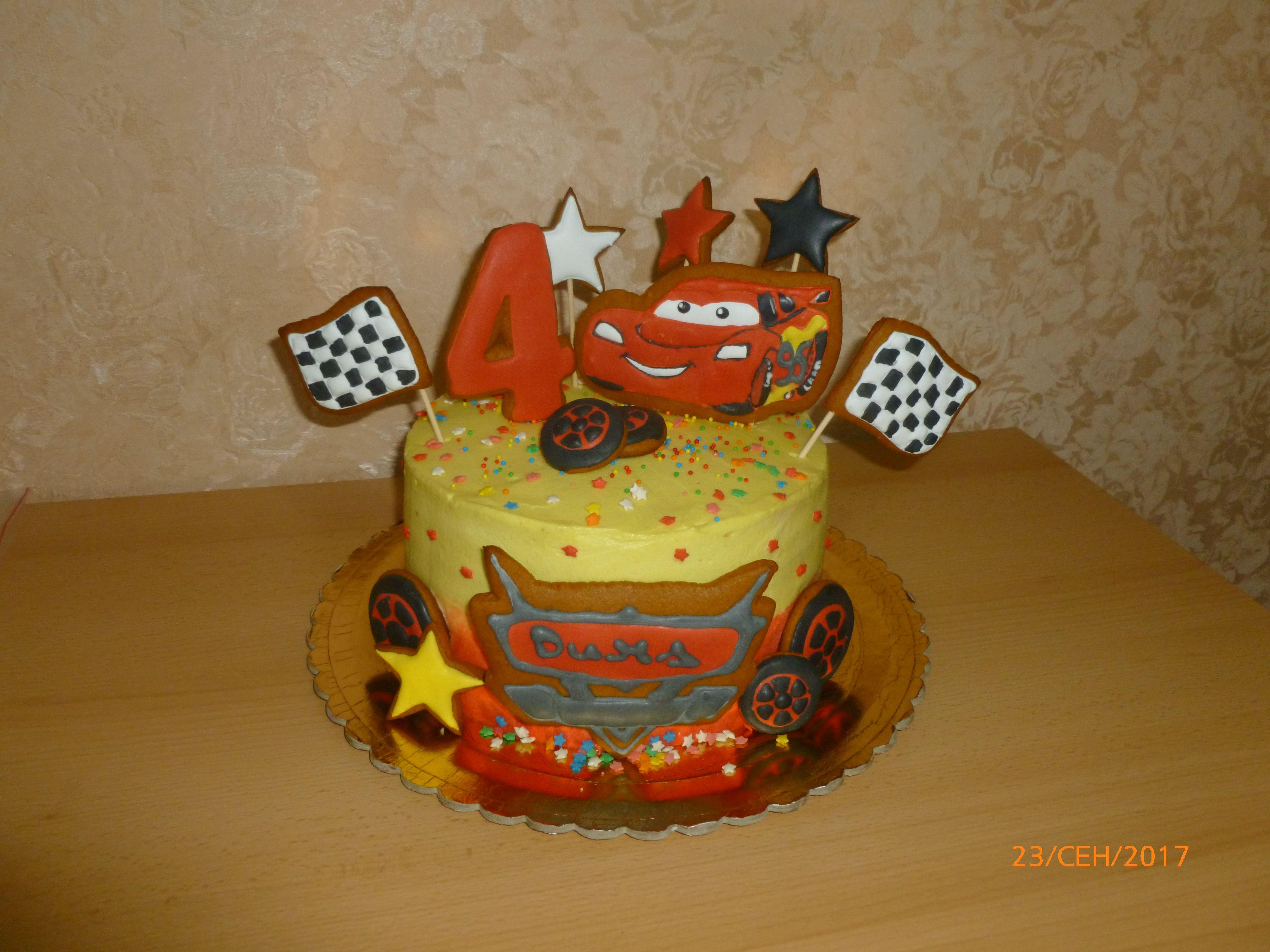 Торт тачка маквин как сделать фото 52