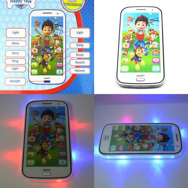 PAW Patrol Cartoon Educational Learning Mobile Phone Toy ...