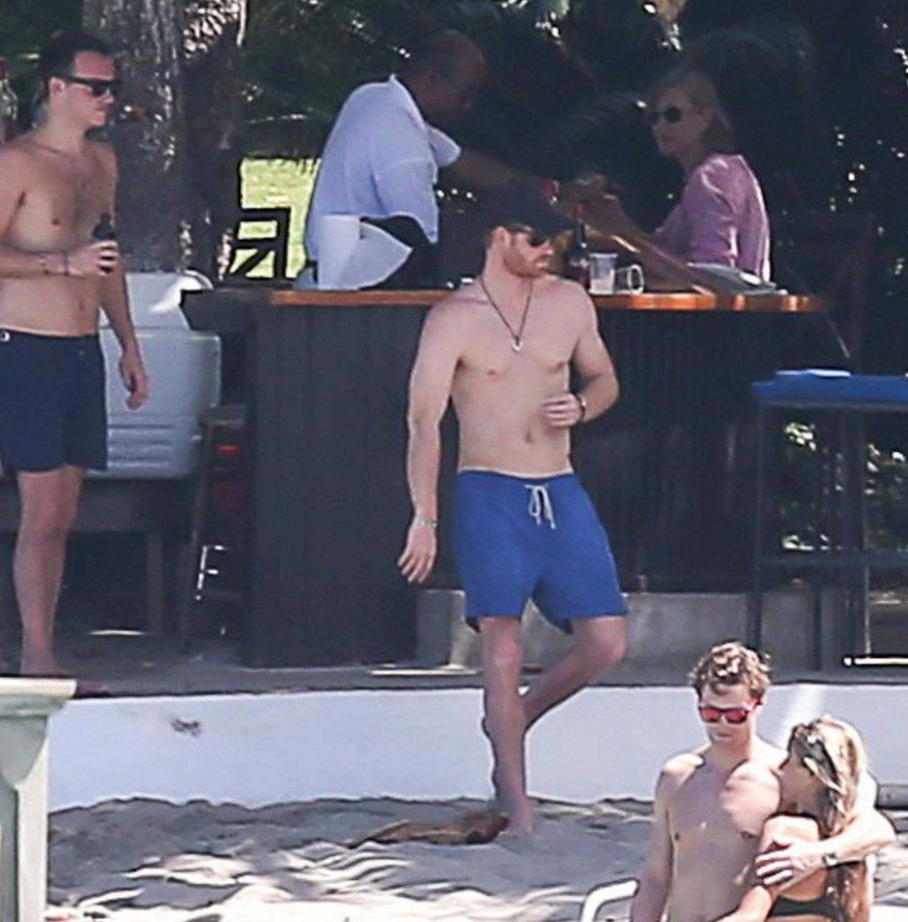 Prince Harry Goes For A Shirtless Swim After Attending A